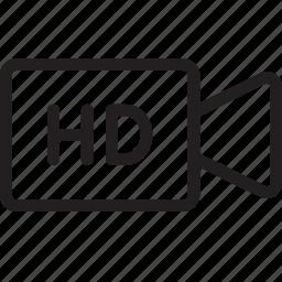 camera, hd, media, movie, play, record, video icon
