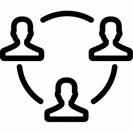 circle, group, people, public, relations, users icon