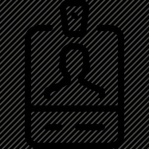 account, card, id, identity, person, photo, tag icon