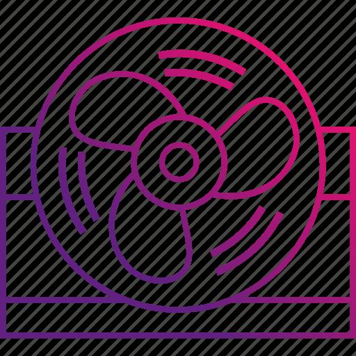 air, cooling, desktop, fan icon