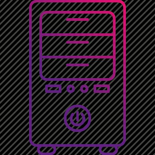 data, hosting, server, storage, tower icon