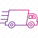 delivery, fast, packages, shipping, truck icon