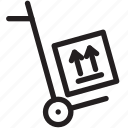 shopping, cart, box, delivery, shipping, fragile icon
