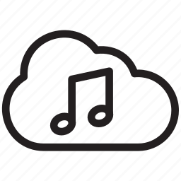 audio, cloud, music, online, sound, stream, streaming icon