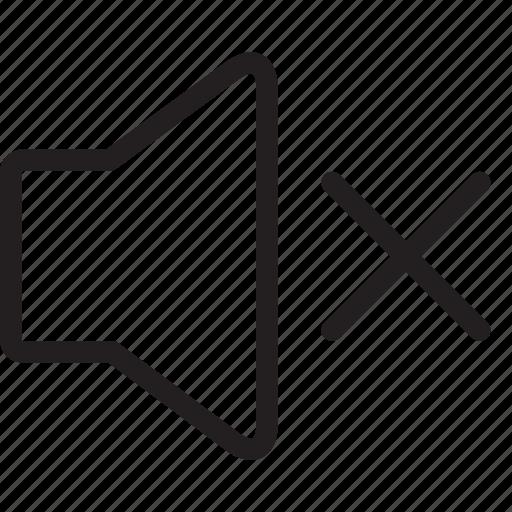audio, music, mute, silent, sound, speaker, volume icon