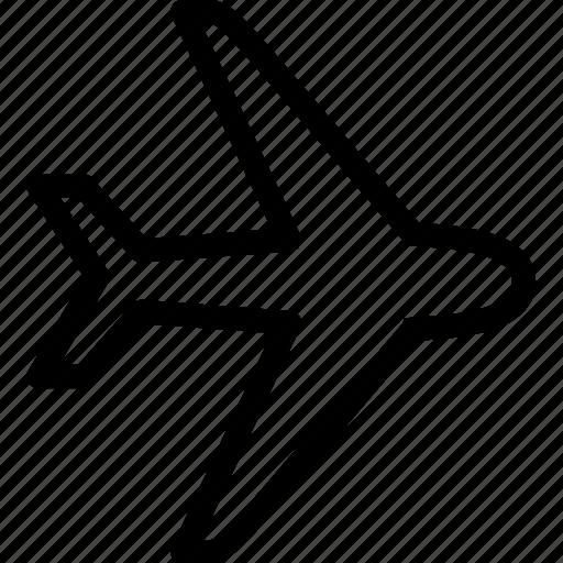 air, airplane, flight, fly, plane, transport, travel icon