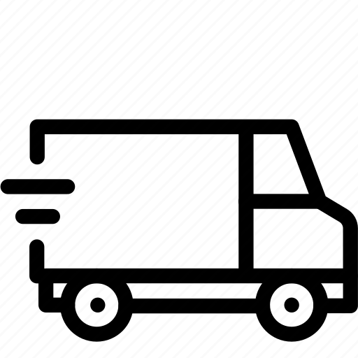delivery, shipping, transport, transportation, travel, truck, van icon