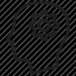brain, head, human, mind, people, thinking icon