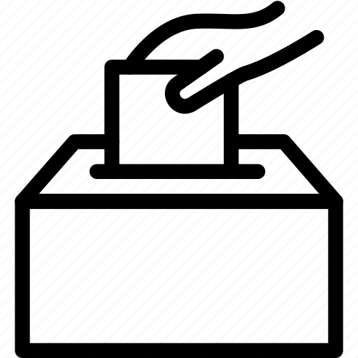 paper, ticket, vote, voters, voting icon