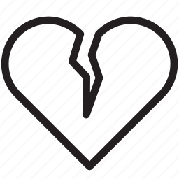 broken, dislike, divorce, heart, love, romantic, valentine icon