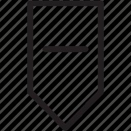 arrow, down, low, minus icon
