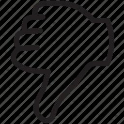 dislike, down, thumbs icon