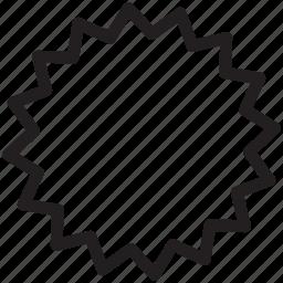 badge, new, shape, star icon