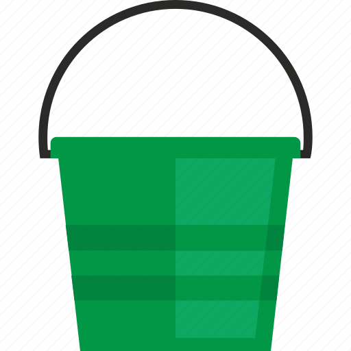 Bucket, cleaning, pail, water icon