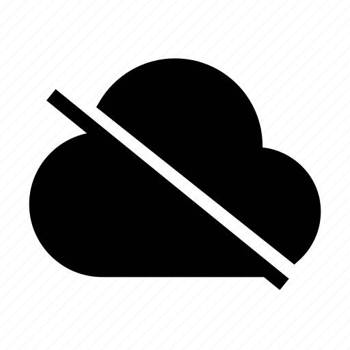 cloud, disconnected, internet, server, storage icon