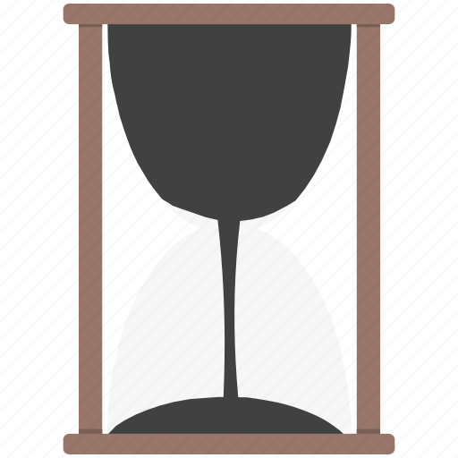 glass, hour, time icon