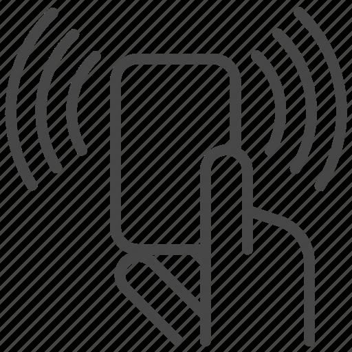 card, digital, scan, wifi icon