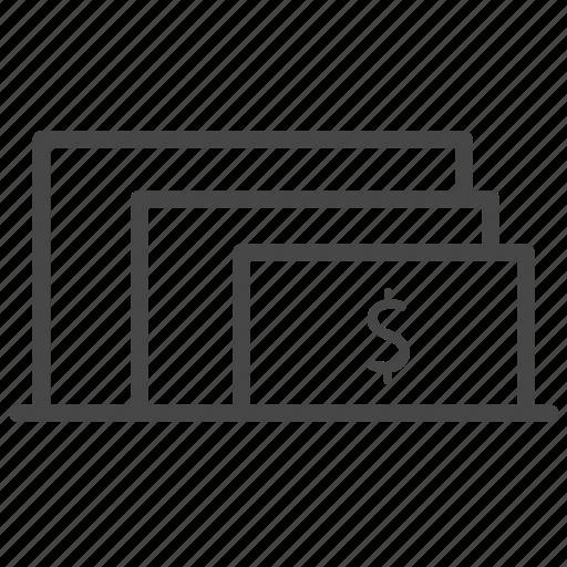 bank, machine, size, ticket, type icon