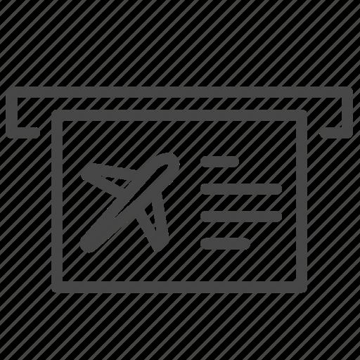 air ticket, flight, machine, plane, ticket icon