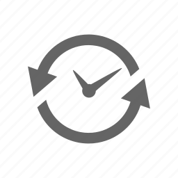 anticlockwise, arrow, clock, counterclock-wise, time, timepiece, watch icon
