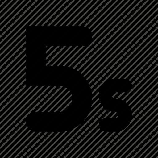 five, seconds icon