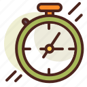 chronometer, clock, schedule icon
