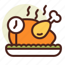 clock, dinner, schedule, time icon