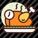 clock, dinner, schedule, time