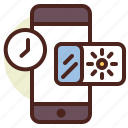 clock, disturb, do, not, schedule icon