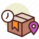 clock, delivery, home, schedule icon