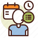 clock, manager, schedule, time icon