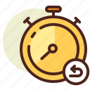 clock, rewind, schedule, timer icon