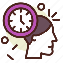 clock, schedule, thinking, time icon