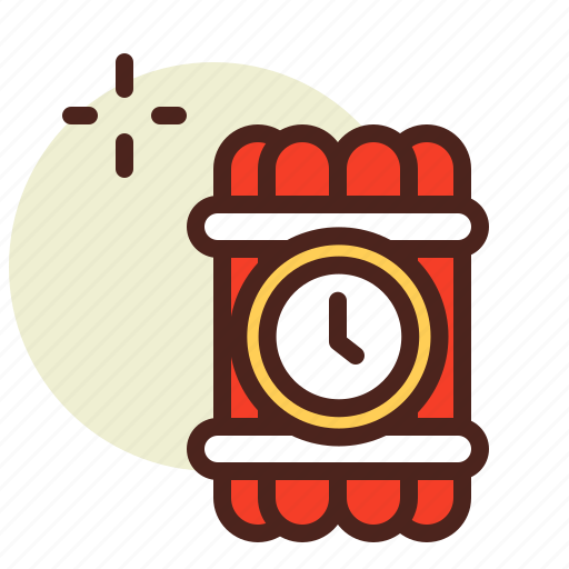 bomb, clock, schedule, time icon