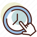 clock, pointed, schedule, time icon