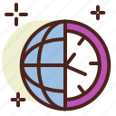 clock, schedule, timezone icon