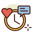 clock, schedule, time, value icon