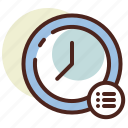 clock, schedule, wall icon