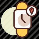 clock, location, schedule, watch icon