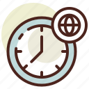 clock, schedule, world icon