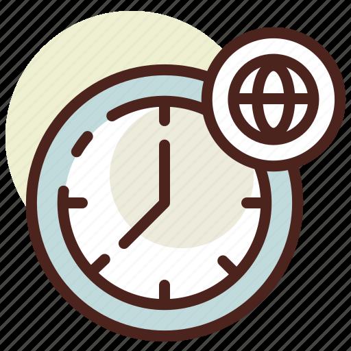clock, schedule, world icon