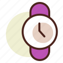 clock, schedule, wristwatch icon