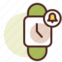 clock, notifications, schedule, wristwatch icon