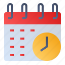 calendar, clock, date, event, schedule icon