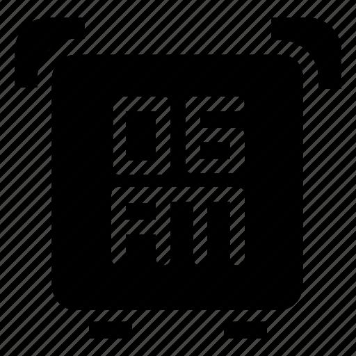 alarm, clock icon