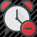 alarm, clock, disable, remove, time