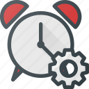 alarm, clock, settings, time icon