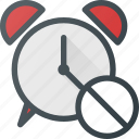 alarm, clock, disable, sound, time icon