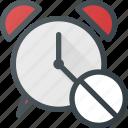 alarm, clock, disable, sound, time