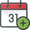 add, calendar, create, event, time icon